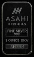 1 Troy Ounce Asahi .999 Fine Silver Bullion Bar at PristineAuction.com