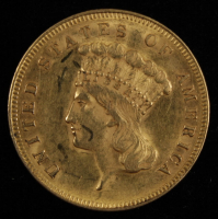 1855 $3.00 Liberty Gold Dollar Coin at PristineAuction.com