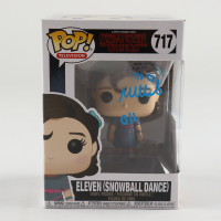 "Millie Bobby Brown Signed ""Stranger Things"" #717 Eleven (Snowball Dance) Funko Pop! Vinyl Figure Inscribed ""011"" (Beckett COA) at PristineAuction.com"