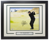 Phil Mickelson Signed 11x14 Custom Framed Photo (PSA COA) at PristineAuction.com