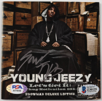 """Young Jeezy Signed """"Thug Motivation 101"""" CD Cover (Beckett COA & PSA COA) at PristineAuction.com"""