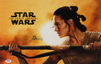 """Daisy Ridley Signed """"Star Wars: The Force Awakens"""" 11x17 Photo (PSA COA) at PristineAuction.com"""
