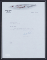 Arnold Palmer Signed 18x24 Custom Framed Letter Display (Beckett LOA) at PristineAuction.com