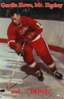 "Gordie Howe Signed Red Wings 22x33.5 Photo Inscribed ""Mr. Hockey"" (JSA Hologram) at PristineAuction.com"