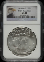 2013 American Silver Eagle $1 One Dollar Coin - First Releases (NGC MS70) at PristineAuction.com