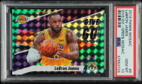 LeBron James 2019-20 Panini Mosaic Give and Go Mosaic Green #8 (PSA 10) at PristineAuction.com