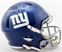 Daniel Jones Signed Giants Full-Size Speed Helmet (Beckett COA) at PristineAuction.com