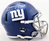 Daniel Jones Signed Giants Full-Size Speed Helmet (Beckett COA) at PristineAuction.com
