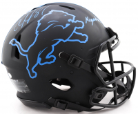 "Calvin Johnson Signed Lions Full-Size Authentic On-Field Eclipse Alternate Speed Helmet Inscribed ""Megatron"" (JSA COA) (See Description) at PristineAuction.com"