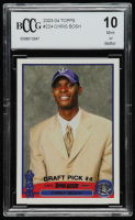 Chris Bosh 2003-04 Topps #224 RC (BCCG 10) at PristineAuction.com