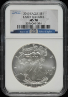 2010 American Silver Eagle $1 One Dollar Coin - Early Releases (NGC MS70) at PristineAuction.com