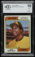 Dave Winfield 1974 Topps #456 RC (BCCG 10) at PristineAuction.com