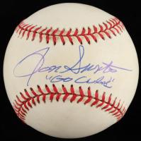 "Ron Santo Signed ONL Baseball Inscribed ""Go Cubs"" (JSA COA) (See Description) at PristineAuction.com"