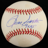 "Ron Santo Signed ONL Baseball Inscribed ""9x AS"" (JSA COA) (See Description) at PristineAuction.com"