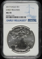2017 American Silver Eagle $1 One Dollar Coin - Early Releases (NGC MS70) at PristineAuction.com