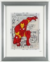 "Marvel Comics ""Iron Man"" 13x16 Custom Framed Hand-Painted Animation Cel Display at PristineAuction.com"