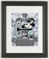 "Disney's ""Steamboat Willie"" 13.5x16.5 Custom Framed Hand-Drawn Animation Serigraph Display at PristineAuction.com"