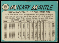 Mickey Mantle 1965 Topps #350 at PristineAuction.com