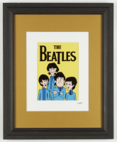 The Beatles 13.5x16.5 Custom Framed Hand-Painted Animation Serigraph Display at PristineAuction.com