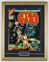 """1977 """"Star Wars"""" Issue #1 15x19 Custom Framed Marvel Comic Book Display at PristineAuction.com"""