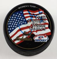 Cammi Granato Signed 1998 Olympic Winter Games Gold Medalist Logo Hockey Puck (PSA COA) at PristineAuction.com