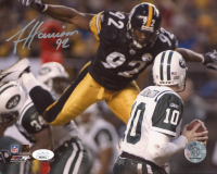 James Harrison Signed Steelers 8x10 Photo (JSA COA) at PristineAuction.com