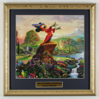 "Thomas Kinkade ""The Sorcerer's Apprentice"" 16x16 Custom Framed Print Display at PristineAuction.com"