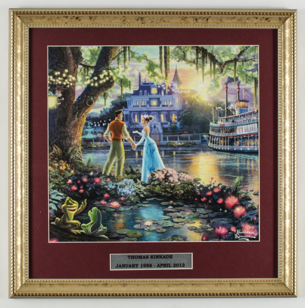 "Thomas Kinkade ""The Princess & The Frog"" 16x16 Custom Framed Print Display at PristineAuction.com"
