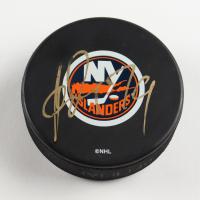Alexei Yashin Signed Islanders Logo Hockey Puck (PSA COA) at PristineAuction.com