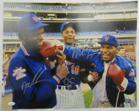 Mike Tyson, Doc Gooden, & Darryl Strawberry Signed 16x20 Photo (JSA Hologram) at PristineAuction.com