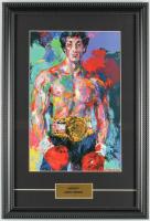 "LeRoy Neiman ""Rocky"" 12x17 Custom Framed Print Display at PristineAuction.com"
