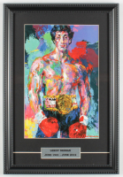 "LeRoy Neiman ""Rocky"" 12x17 Custom Framed Print Display at PristineAuction.com"