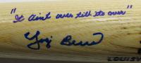 "Yogi Berra Signed LE Louisville Slugger Player Model Baseball Bat Inscribed ""It Ain't Over Till It's Over"" (PSA Hologram) at PristineAuction.com"