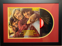 """The Monkees"" 18x24 Custom Framed LP Display Signed by Davy Jones, Michael Nesmith, Micky Dolenz & Peter Tork (PSA LOA) at PristineAuction.com"
