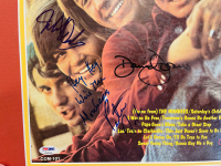 """""""The Monkees"""" 18x24 Custom Framed LP Display Signed by Davy Jones, Michael Nesmith, Micky Dolenz & Peter Tork (PSA LOA) at PristineAuction.com"""