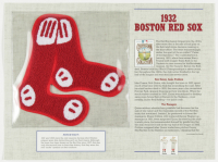 1932 Red Sox Commemorative 9x12 Highlight Card with Patch at PristineAuction.com