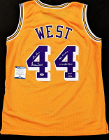 "Jerry West Signed Jersey Inscribed ""The Logo"", ""Mr. Clutch"", ""14x All Star"" & ""HOF 1980"" (Beckett COA) at PristineAuction.com"