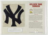 1978 Yankees Commemorative 9x12 Highlight Card with Patch at PristineAuction.com