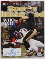 Drew Brees Signed 2010 Sports Illustrated Magazine (PSA COA) (See Description) at PristineAuction.com