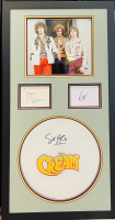 "Eric Clapton, Jack Bruce & Ginger Baker Signed ""Cream"" 20x38 Custom Framed Drumhead & Cut Display (JSA LOA) at PristineAuction.com"