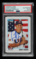 Corey Seager Signed 2010 Bowman Draft Prospects #BDPP108 (PSA Encapsulated) at PristineAuction.com
