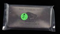 10 Troy Ounce .999 Fine Titanium Bullion Bar at PristineAuction.com