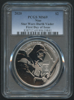 2020 $2 Star Wars - Darth Vader - 1oz Silver Coin - Niue - First Day of Issue (PCGS MS 69) at PristineAuction.com