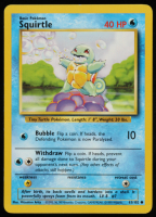 Squirtle 1999 Pokemon Base Set Unlimited #63 at PristineAuction.com