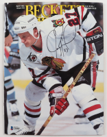Jeremy Roenick Signed 1992 Beckett Monthly Magazine (Beckett COA) at PristineAuction.com