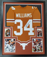 Ricky Williams Signed 34x42 Custom Framed Jersey (JSA COA) at PristineAuction.com