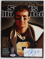 Drew Brees Signed 2010 Sports Illustrated Magazine (PSA COA & Brees Hologram) at PristineAuction.com