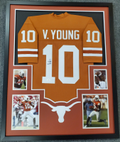 Vince Young Signed 34x42 Custom Framed Jersey (JSA COA) at PristineAuction.com