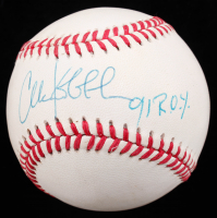 "Chuck Knoblauch Signed OAL Baseball Inscribed ""91 R.O.Y."" (JSA COA) at PristineAuction.com"