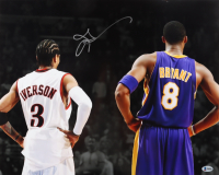 Allen Iverson Signed 76ers 16x20 Photo (Beckett COA) (See Description) at PristineAuction.com